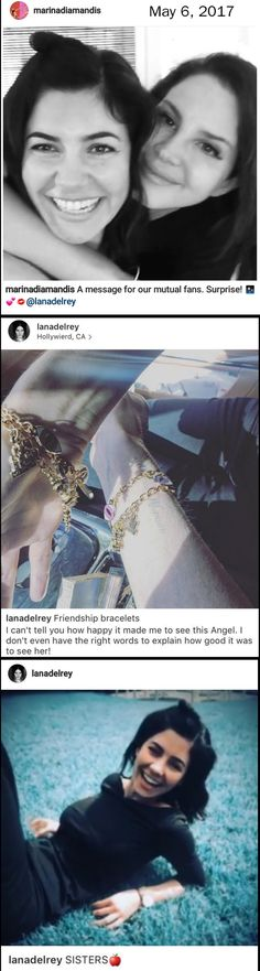 Lana Del Rey and Marina Diamandis (Marina and The Diamonds) are hanging out AND they have friendship bracelets ❤  #LDR
