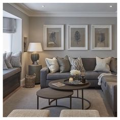 Here are 30 elegant living room color schemes for your home. Earthy Living Room, Elegant Living Room, New Living Room, My New Room, Home And Living, Living Room Decor Colors Grey, Grey Living Room Ideas Colour Palettes, Contemporary Living Room Decor Ideas, Living Room Wall Art