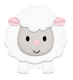 Very cute sheep, ideal as a template for crafting Sheep Crafts, Felt Crafts, Diy And Crafts, Crafts For Kids, Paper Crafts, Quilt Baby, Farm Birthday, Farm Party, Applique Patterns