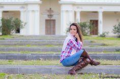 www.esteesmilook.com camisa leñadora con acompañamientos chics y botas caña alta café.