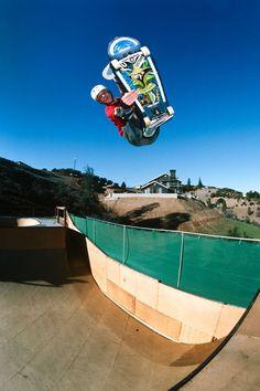 "18 x 24"" Tony Hawk Lien Air Hawk Ramp Eighties Skateboarding Photograph"