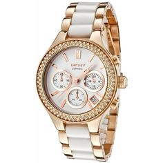 DKNY Women's NY8183 Gold Stainless-Steel Quartz Watch with White Dial... Have to have it