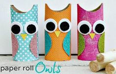 DIY Paper Roll Owls