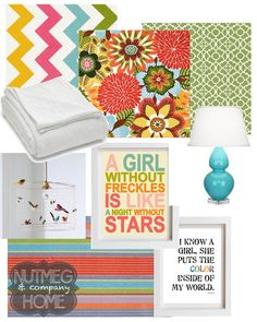 girls tween bedroom | Nutmeg  Company I LOVE the girl with freckles! PERFECT FOR MY DAUGHTER.