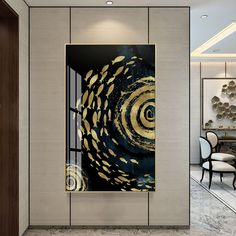 Framed Wall Art Modern Abstract Ocean Golden Fish Wave Luxury Print Painting on Canvas Printable Wall Art Printable Art Wall Art Prints Easy Canvas Art, Canvas Wall Art, Wall Art Prints, Canvas Prints, Wall Art Pictures, Canvas Pictures, Bathroom Artwork, Gold Leaf Art, Golden Fish