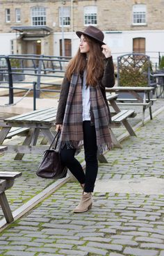 Barbour tartan :: Edinburgh, Kinloch Anderson The Kitchin. Fall Outfits, Cute Outfits, Fashion Outfits, Womens Fashion, Fashion Trends, Barbour Wax Jacket, Gentleman, Country Fashion, Winter Mode