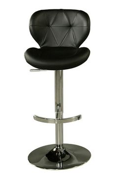"""TSCShops Exclusive! TSC Furniture 30"""" Barstool in Chrome Upholstered in Black"""