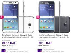 "Smartphone Samsung Galaxy J7 Duos Dual Chip Desbloqueado Android 5.1 5.5"" 16GB 4G 13MP << R$ 103410 >>"