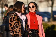 NEW YORK, NY - FEBRUARY 14:  Camila Coelho and Aimee Song are seen outside the Coach show during New York Fashion Week: Women's Fall/Winter 2017 on February 14, 2017 in New York City.  (Photo by Daniel Zuchnik/Getty Images) via @AOL_Lifestyle Read more: https://www.aol.com/article/lifestyle/2017/02/15/nyfw-street-style-day-6-new-york-fashion-week/21714646/?a_dgi=aolshare_pinterest#fullscreen