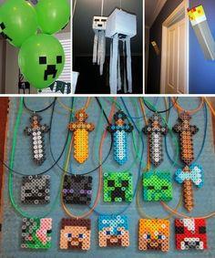 Fazendo uma Festa de Aniversário Minecrafteira!   Minecraft Sem Limites