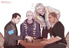 """SOMILKY on Twitter: """"#DetroitBecomeHuman #RK800 #connorarmy #RK200 #markus #GIF ^O^;;… """""""