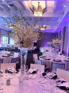 White orchids high arrangements