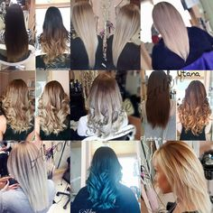 Ombre-balayaged hairs done by Eniko Antal
