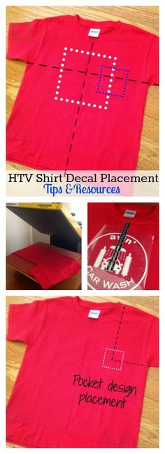 Tips and resources for determining the proper size and placement of HTV decals on t-shirts and other apparel.
