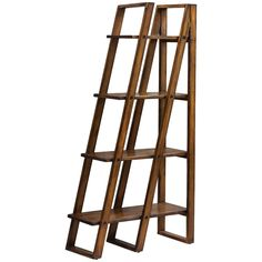 Uttermost Cacey Honey Stain with Rubbed Black Accents Etagere