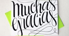 Muchas gracias - Thank you in Spanish - one card with a green envelope | In Spanish, Spanish and Dios
