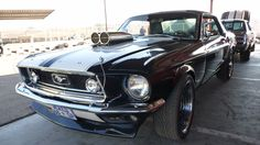 Ford Mustang with hella turbo