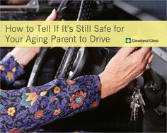 Should your older parents still be #driving? How to tell if it's still safe. #aging #elderly