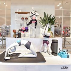 """LEFFERS MODEHAUS, Oldenburg, Germany, YOGA: """"C'mon, inner peace... we don't have all day"""", for Anita Sport -BH, pinned by Ton van der Veer"""
