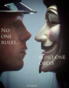 no one rules if no one obeys