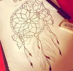 rose with dream catchers tattoos - Google Search
