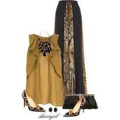 """""""Maxi Skirt Contest"""" by sherryvl on Polyvore"""