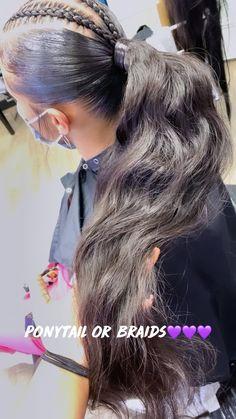 Natural Hair Ponytail, Weave Ponytail Hairstyles, Black Girl Braided Hairstyles, Sleek Ponytail, African Braids Hairstyles, Girl Hairstyles, Black Girl Braids, Girls Braids, African American Hairstyles