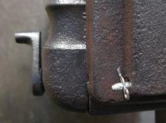 The cast iron flue damper control