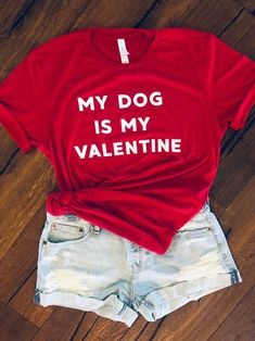 My Dog Is My Valentine Shirts For Women - Mr. Cute Animals Source by mrcuteanimals clothes shirts Valentine Shirts, Valentines Outfits, Be My Valentine, Trendy Outfits, Cute Outfits, Trendy Swimwear, Cute Shirts, Cute Tops, Outfit Of The Day