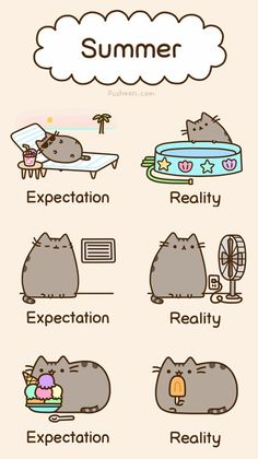 I love pusheen .if i was a cat i would be pusheen Kawaii Pusheen, Gato Pusheen, Chat Kawaii, Pusheen Love, Kawaii Cat, Pusheen Stuff, Kawaii Stuff, I Love Cats, Crazy Cats