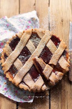 Tart Recipes, Sweets Recipes, Crostata Recipe, Jam Tarts, Torte Cake, Cooking Cake, Healthy Cake, Vegan Desserts, Fett