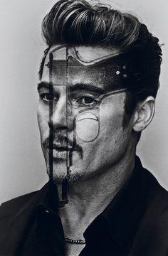 Brad Pitt editorial Steven Klein for Interview Magazine   Beauty And The Dirt