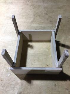 "1/2 scale ""sedia"" chair originally designed by Enzo Mari Material: White birch plywood"