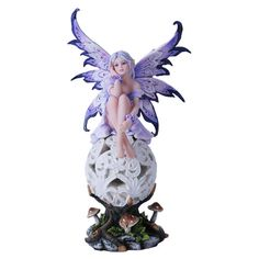Sitting Fairy with LED Nighlight