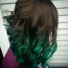 Green Balayage #green #greenhair