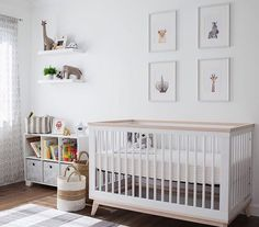 @babyletto on Instagram: a calm and beautifully designed safari-themed nursery for one tiny cub! • #babyletto Scoot crib • : designed by papa and mama for @zanetuwin