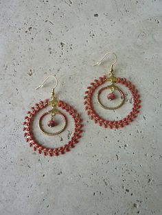 Image of Boucles d'oreille grandes créoles INDIA Rouille -20%