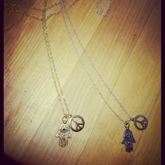 new london loves la necklaces available here NOW:  http://londonlovesla.bigcartel.com/product/peace-hamsa-necklace