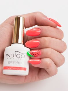 by Paulina Walaszczyk, Indigo Young Team, Follow us on Pinterest. Find more inspiration at www.indigo-nails.com #nailart #nails #indigo #watermelon