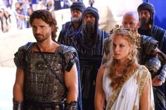 Eric Bana as Prince Hector and Diane Kruger as Helen in Troy As Roma, Troy Movie, Tyler Mane, Helen Of Troy, Medieval, Eric Bana, The Legend Of Heroes, Movie Shots, Troy
