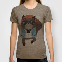 Gangnam Raccoon T-shirt by Claire Stamper - $22.00