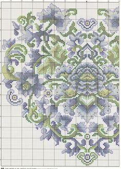 Cross-stitch Ming Heart, part 1... color chart on part 2... Gallery.ru / Фото #50 - KWIATY 3 - aaadelayda  1/2