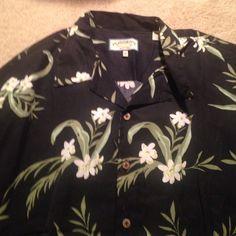Mens XL Pussers Silk Button Up Shirt Mens XL Pussers Silk Button Up Short Sleeve Shirt. 72% Silk, 28% Cotton. Never Worn. Pussers Tops Button Down Shirts