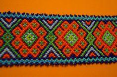 HUICHOL BRACELET PEYOTE MULTICOLOR MEXICAN FOLK ART BLUE ORANGE | Collectibles, Cultures & Ethnicities, Latin American | eBay!