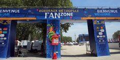 La Fan zone de Bordeaux attendait encore ses supporters jeudi.