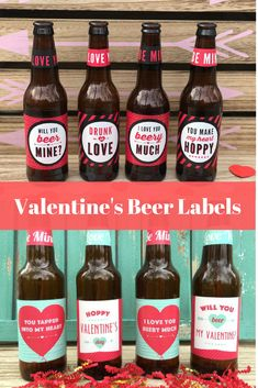 Valentines Beer Labels Valentines Gift for Him Gift for Husband Beer Lover Gift Valentines Day All You Need is Love and Beer #valentines #beer #giftsforhim #etsy #ad