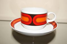 Mid Century retro porcelain coffee cup and by fcollectables, €15.00