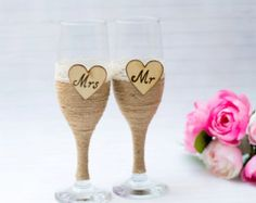 Wedding Glasses Handmade . por AccessoriesbyNicolle en Etsy