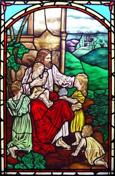 Lynchburg Stained Glass Portfolio - Christ with the Children