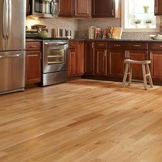 Williamsburg Wire Brushed Natural Oak solid hardwood flooring.